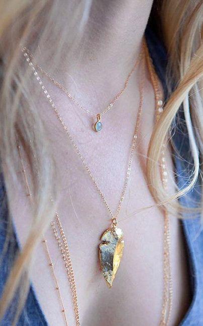 The 25 best diy arrowhead necklace ideas on pinterest vestido alii necklace gold arrowhead pendant necklace by kealohajewelry aloadofball Image collections