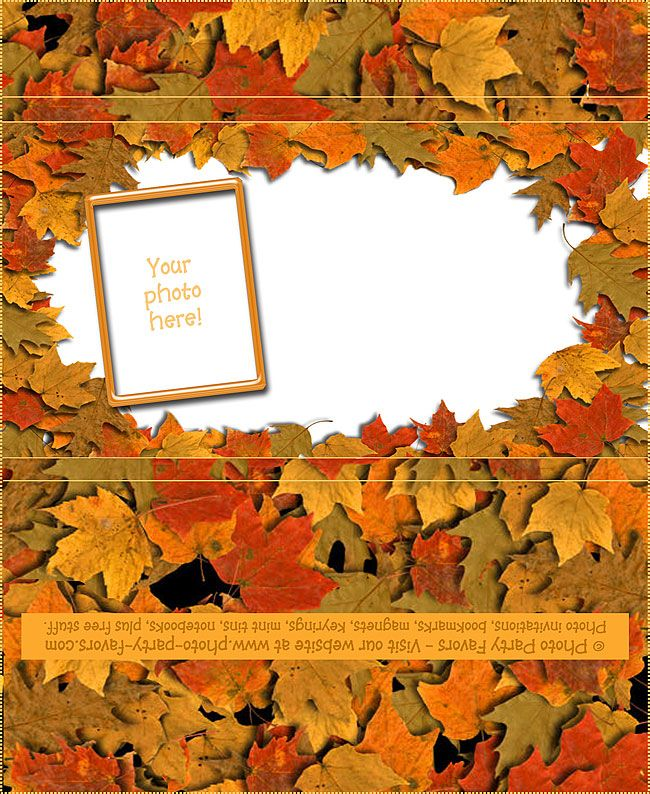 Autumn Leaves Free Printable Candy Bar Wrapper, ready to personalize with your photo and message.