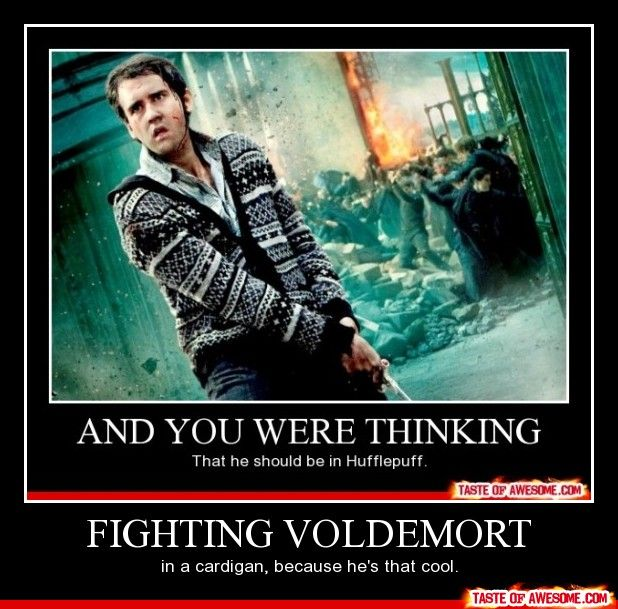 And YOU thought he should be in hufflepuff. Lol. He was in his house because he should be!