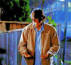 "jared padalecki sam winchester gif ""I lost my shoe :("""