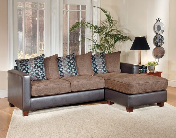 #AFPinspiredHome   San Marino Mocha 2 Piece Sectional     I LOVE This Sofa