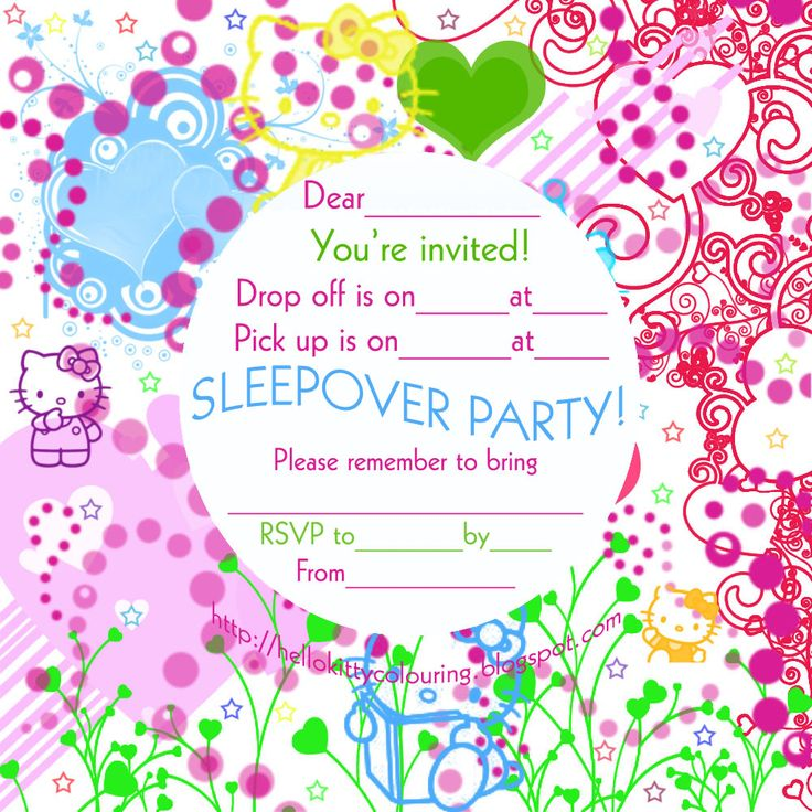 198 best Printable - Sleepover - Party for kids images on Pinterest ...