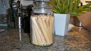 Reuse those wonderful Yankee Candle jars for storage.