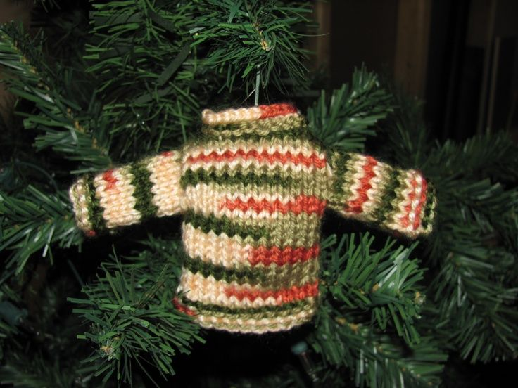 Mini Sweater Knitted Christmas Ornament Crocheting