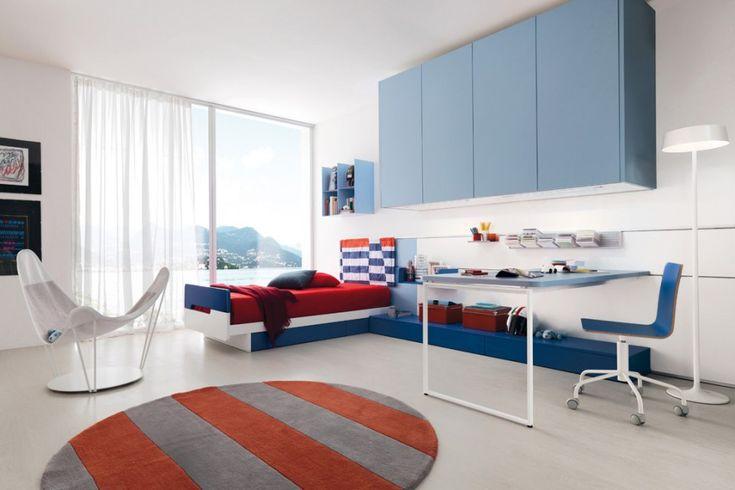 Oltre 25 fantastiche idee su camere da letto blu su for Struttura letto sospeso