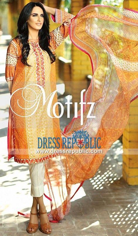 Motifz Embroidered Lawn Dresses 2015 Vol 1 Chicago IL