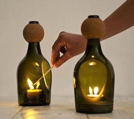 Forma Expressa | Reutilizando: a garrafa de vidro.