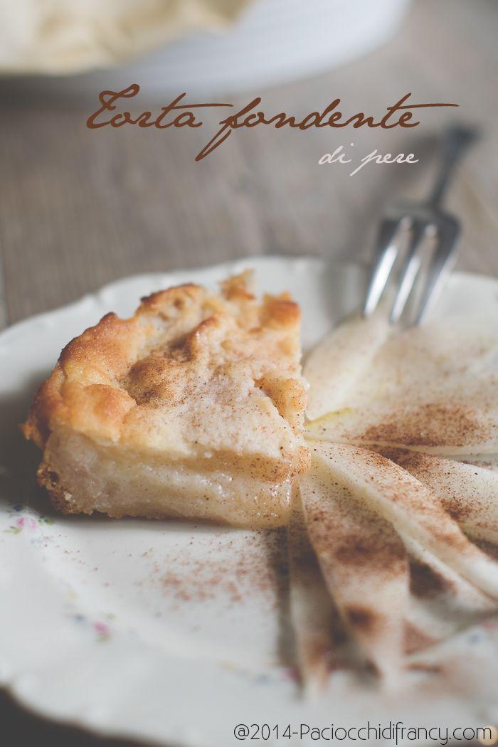 Paciocchi di Francy: Torta fondente di pere ( vegana, senza zucchero, gluten free )