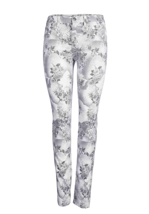 Only Duffy Floral Iris Skinny Jean, Grey