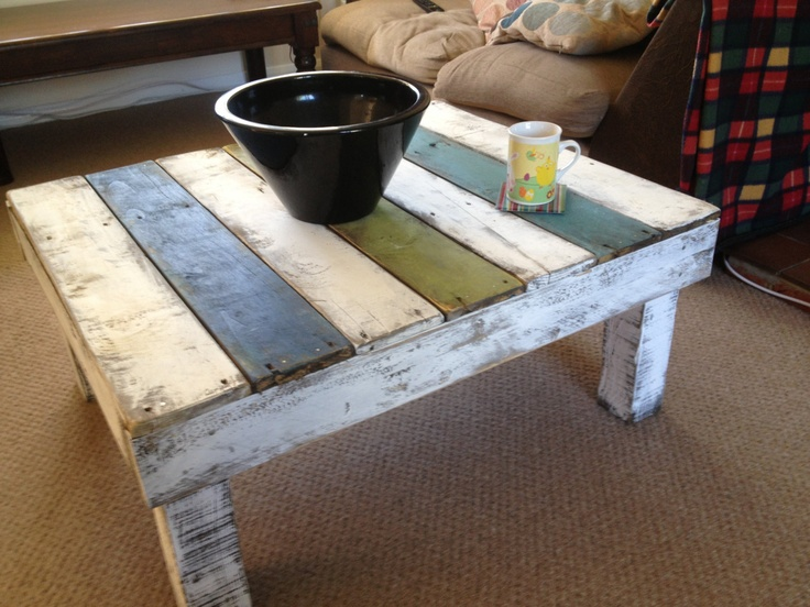 Distressed Pallet Coffee Table Collection Only By