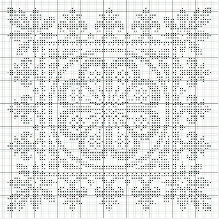 Modelo. Cross stitche. Punto de cruz.  This could easily be a filet crochet.