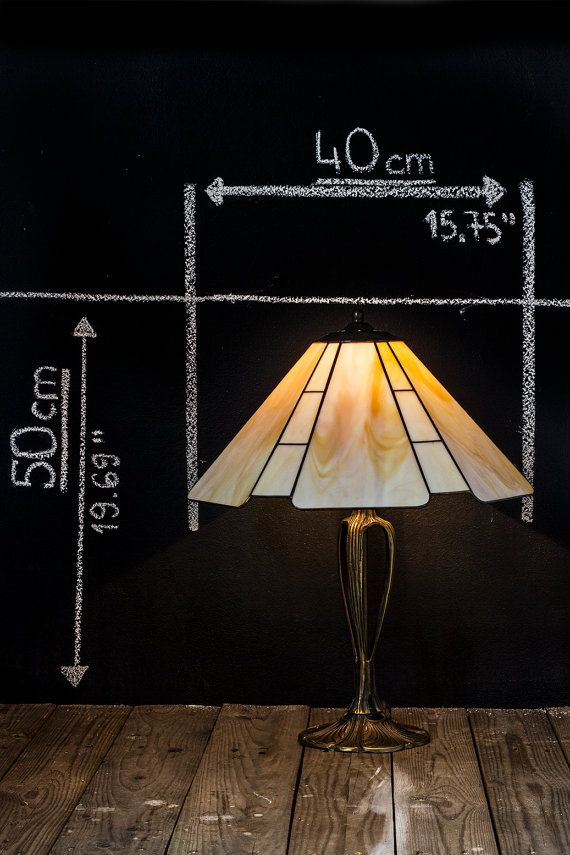 Tiffany art deco lampshade. Stained glass simple by WPworkshop