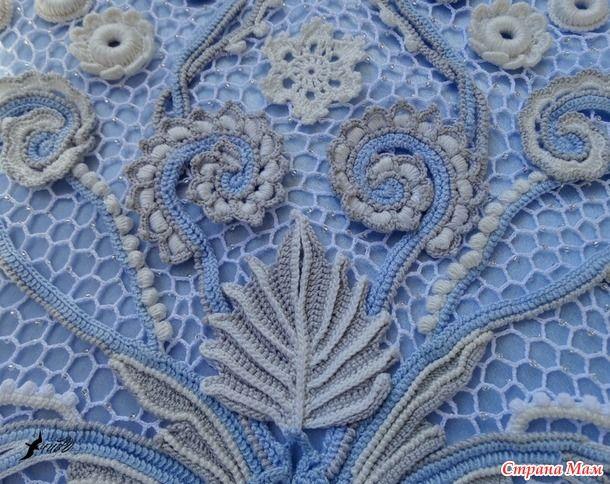 Насмотревшись на красивые наряды в технике ирландского кружева, решила тоже испробовать себя на этом поприще. И вот, почти 6 месяцев работы и платье готово!