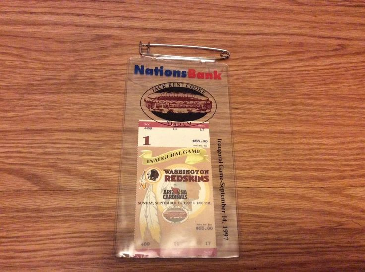 Sept 14 1997 Washington Redskins tickets stub Inaugural Game Jack Kent Cooke #2