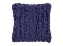 Cuscino a maglia 45 x 45 cm Cable, blu cobalto