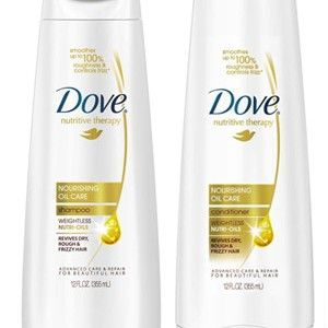 This Dove shampoo and conditioner combination is my favorite for soft and frizz free hair.
