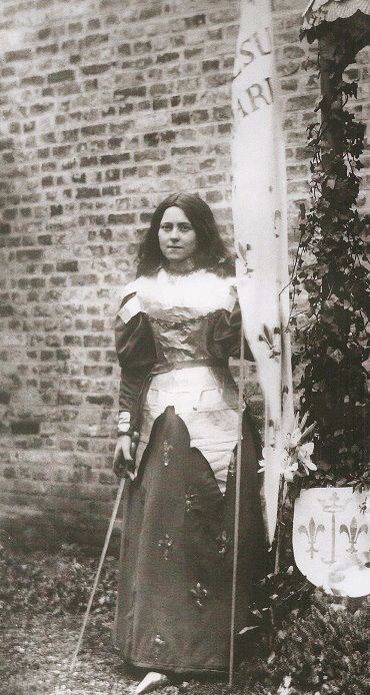 The actress, St Therese of Lisieux, in her role as Joan of Arc. Play written by St Therese if Lisieux