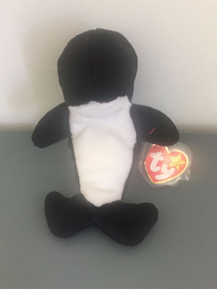 Ty Whale Waves Beanie Baby w/Echo Dolphin Tag 4 Errors Collectors Boys Girls 3