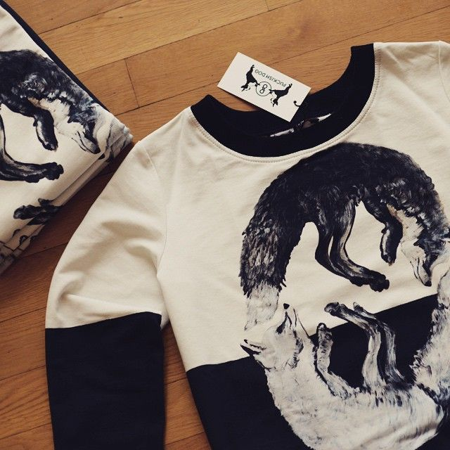 #fox #sweatshirt #blackandwhite #print #streetwear #puckishdog #yinandyang