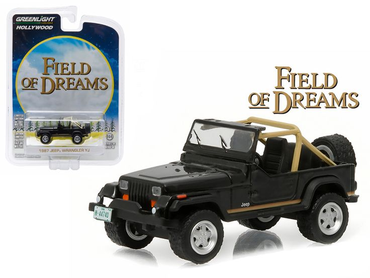 "1987 Jeep Wrangler YJ ""Field of Dreams"""" (1989) Movie 1/64 Diecast Model Car by Greenlight"""