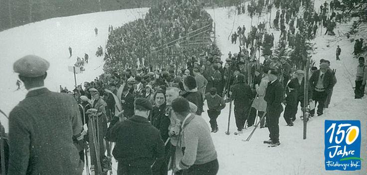 Ski-Rennen auf dem Feldberg ca. 1932