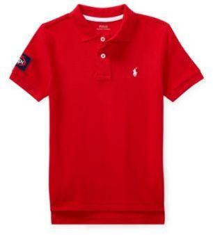 Ralph Lauren Us Open Cotton Mesh Polo Shirt Rl2000 Red 3T