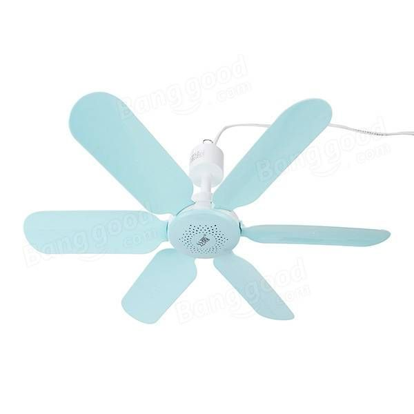 220V 7W Ultra Quiet 6 Leaves Mini Electric Hanging Ceiling Fan Anti Mosquitoes Breeze Cooler Try
