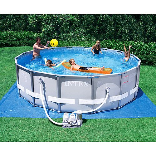 """... One 16' x 48"""" Backyard Swimming Pool with Saltwater Pool Filter System"""