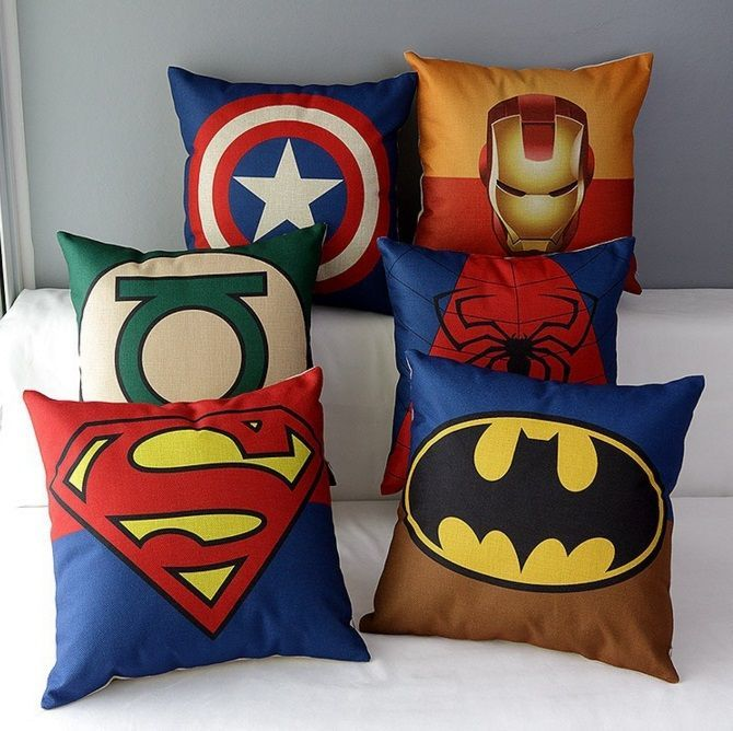 Kids Hero Inspired Pillow Cover with Zipper - 9 Styles! - Photo 1