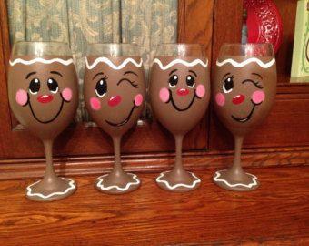 Gingerbread Wine Glasses