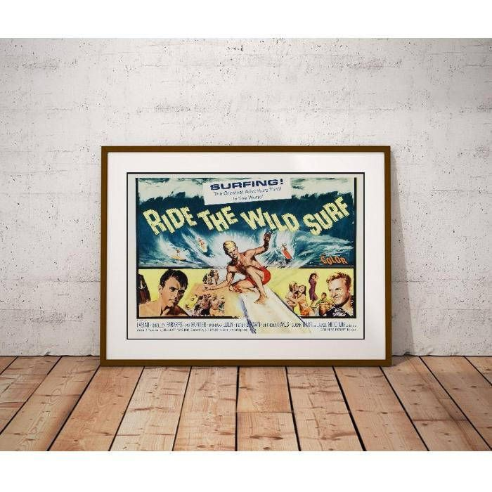 Ride The Wild Surf Poster – Fabian Shelley Fabares Tab Hunter Surf Movie by MyGenerationShop on Etsy