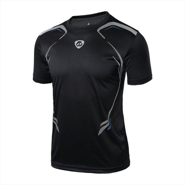 Новый Летний Футболка Мужчины Повседневная Quick Dry-Fit Рубашки Стрейч Тройник Мужчины Crossfit Топы