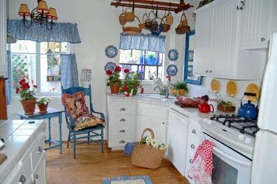 Erin's kitchen at her blog The Painted Garden is so pretty!