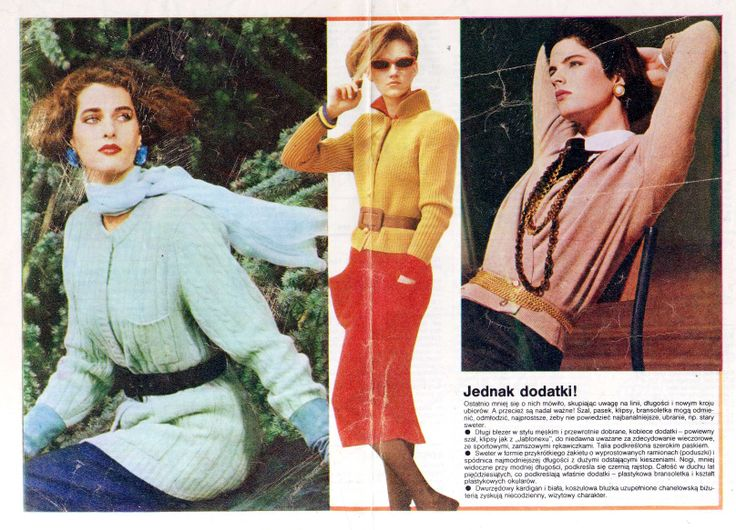 "From ""tylko dla ciebie"" wydawnictwo specjalne ""ŚWIATA MODY"" nr 10 '1984  models reprint from Linea Italiana, L'Officiel, L'Uomo, Annabella, Herren Journal, Brigitte, Marie Claire, Petra."