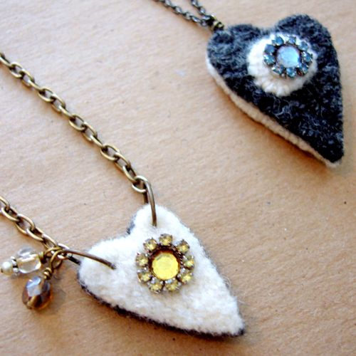 Becky Shander's Recycled Wool Necklaces