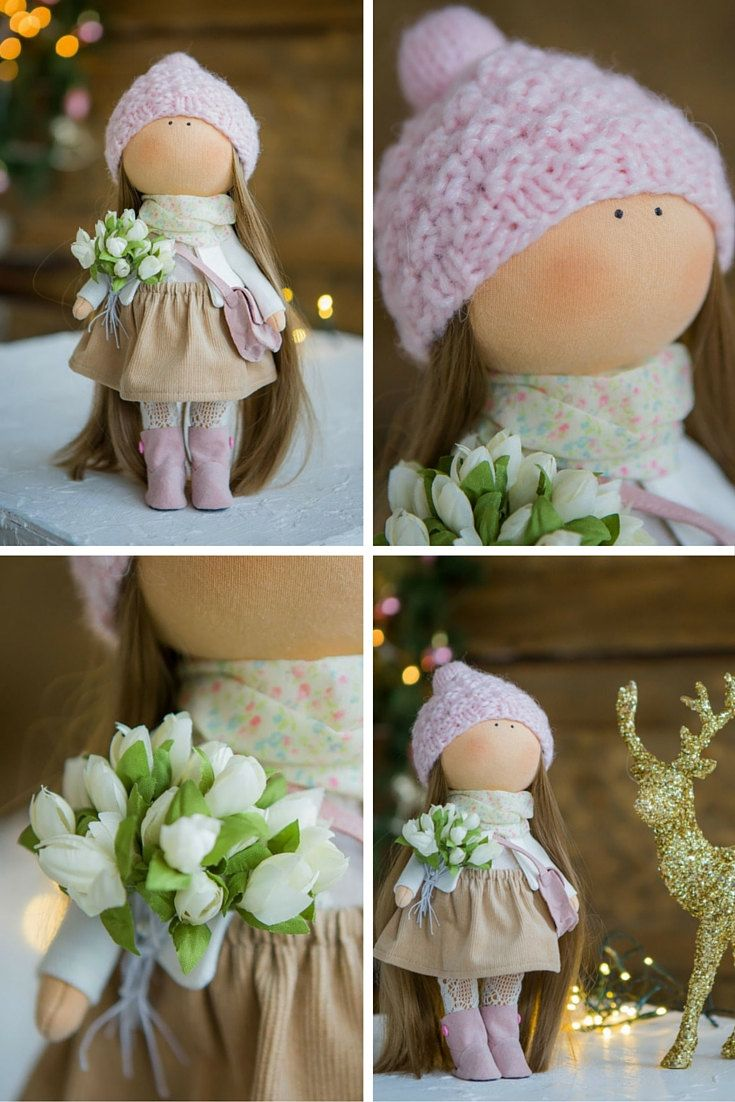 Winter tilda doll Art doll Christmas doll by AnnKirillartPlace