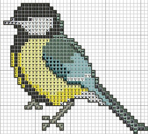 Bird hama perler beads pattern