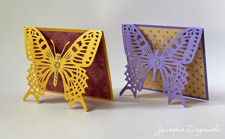 Открытка бабочка своими руками фото