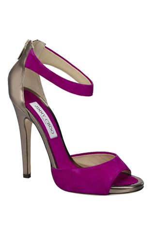 Purple and silver Jimmy Choo's