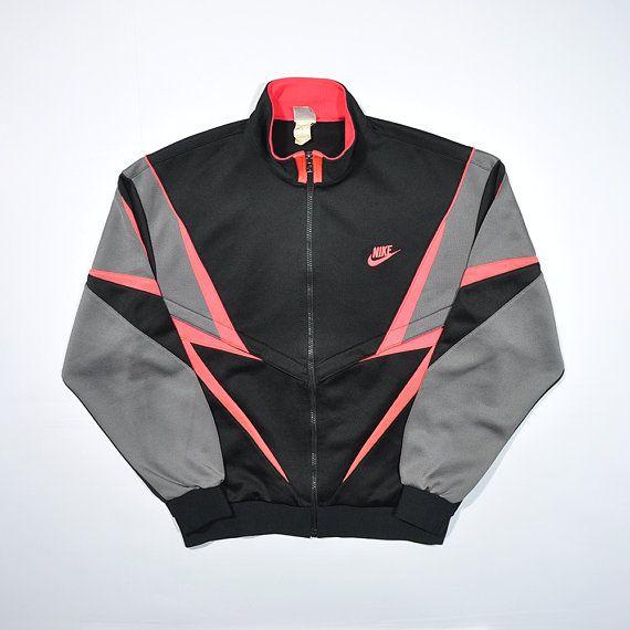 7b27f31e9 Rare Vintage 80s 90s NIKE Windbreaker Track Jacket / Retro NIKE Streetwear  Old school / Nike Tracksuit Jogger Jogging aesthetic Jacket