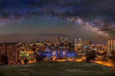 Kansas City Night Sky Milky Way by JPatterson