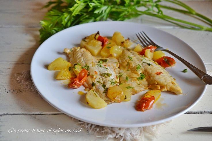 Fillet of sea bream with potatoes - Filetti di orata con patate, le ricette di tina