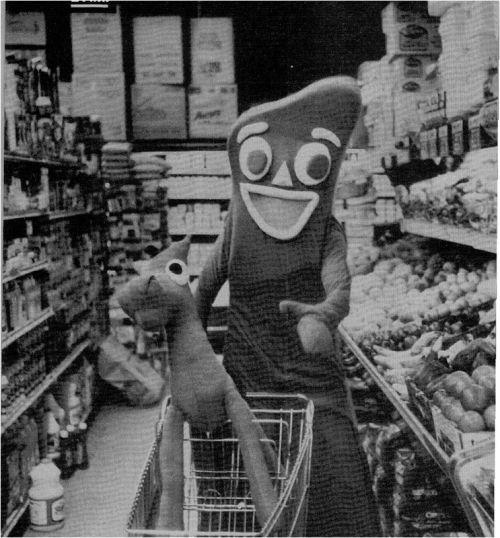 Gumbi's shopping, dammit