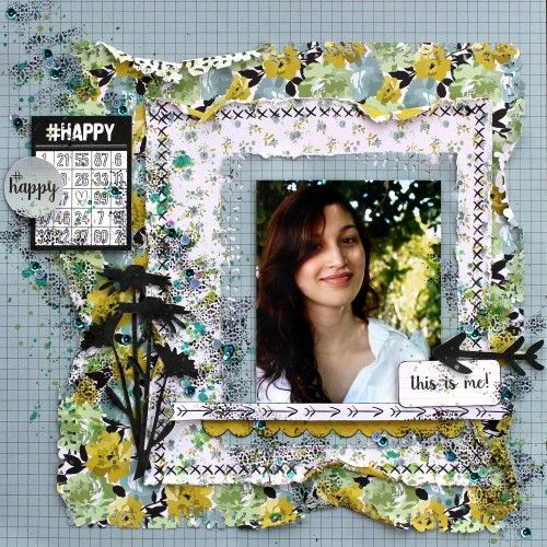 Kaisercraft #Me Sketch Challenge Jan 2016. This is Me by Cathy Cafun