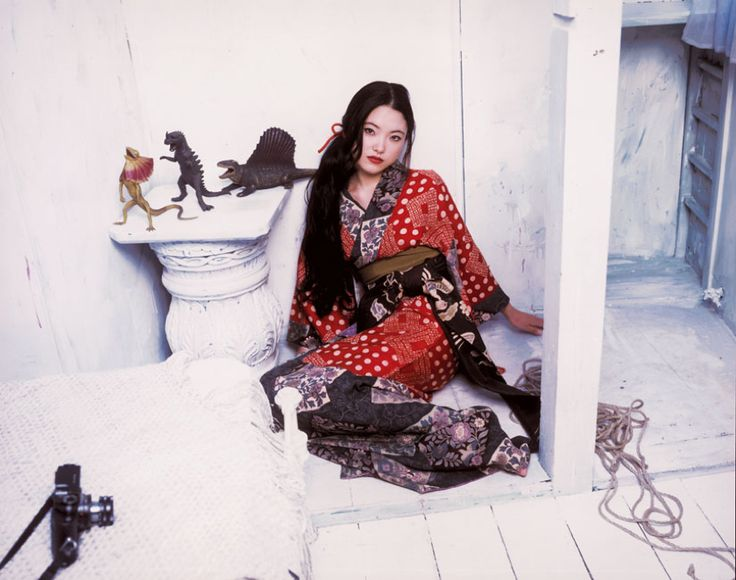 """Godzilla Geisha - Araki Nobuyoshi's fine art images appear in museums including MOMA, SFMOMA, The Getty, and the Louvre. His work is considered fine art, and meets the criteria of educational and museum quality images of Pinterest (""""We do allow works of art and educational pins, like you might see in a museum or classroom.""""). Araki's work is an important part of the history of fine art and is included in curricula taught in classrooms, schools, and featured on educational tv."""
