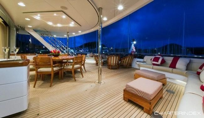 Skylounge Deck - BLUE MOON Yacht Charter