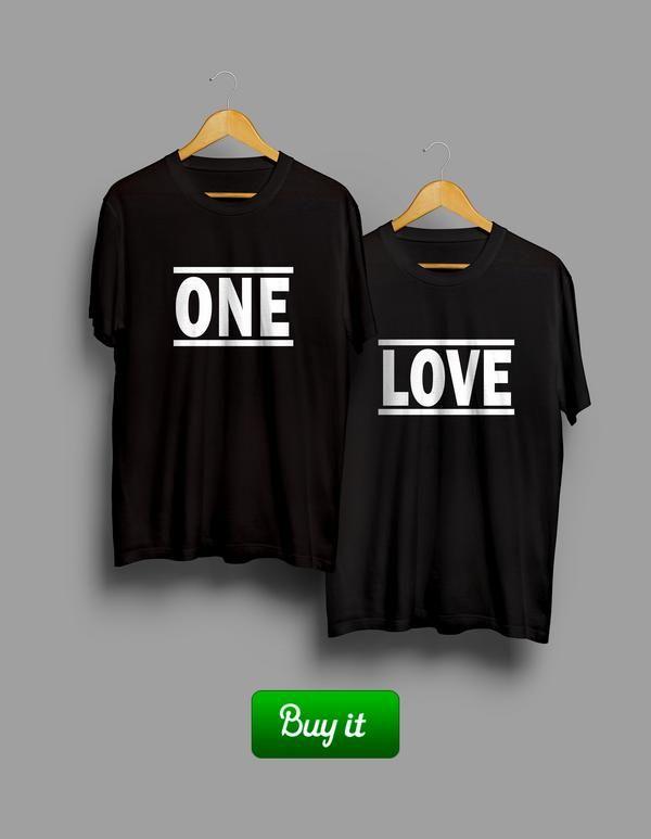 One  Love   Футболки для тех, кто уверен в себе, а в партнере еще больше. Надевайте их три раза в неделю и будет вам безграничное счастье. #together #love #couple #husband #wife #forever #heart #любовь #girlfriend #boyfriend #onelove #Tshirt