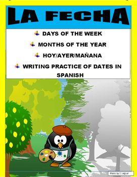 dates in spanish practice