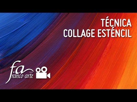 Franco Arte Técnica Collage Stencil Espazio Ideal - YouTube