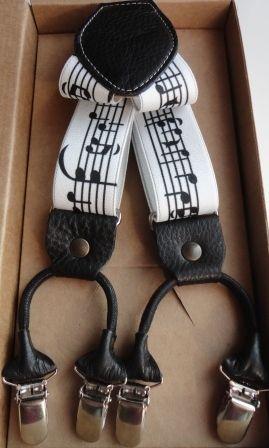 Bretelle - Bretelle uomo donna - elastico spartito musicale - - un prodotto unico di davide-battistella su DaWanda